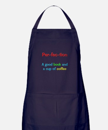 Perfection Book and Coffee Apron (dark)