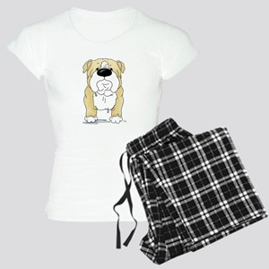 Big Nose Bulldog Women's Light Pajamas