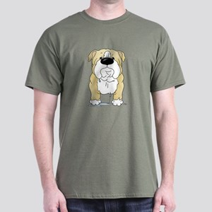 Big Nose Bulldog Dark T-Shirt