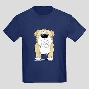 Big Nose Bulldog Kids Dark T-Shirt