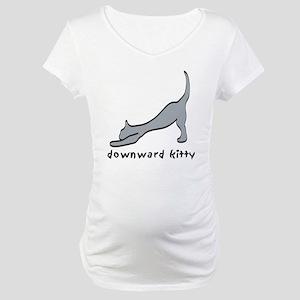 Downward Kitty Maternity T-Shirt
