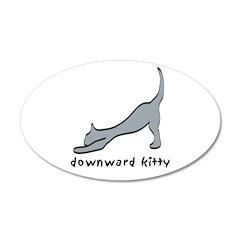 Downward Kitty 38.5 x 24.5 Oval Wall Peel