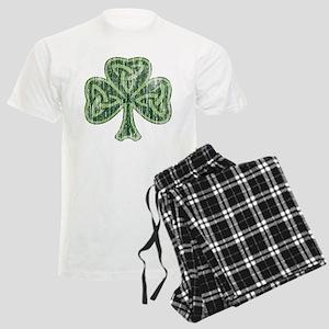 Vintage Trinity Shamrock Men's Light Pajamas