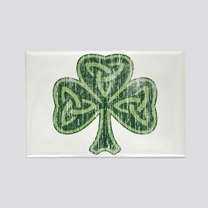 Vintage Trinity Shamrock Rectangle Magnet