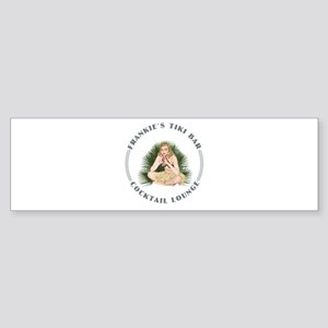 Frankie's Tiki Bar Hula Girl 4 Sticker (Bumper)