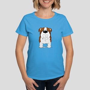 Big Nose Bulldog Women's Dark T-Shirt