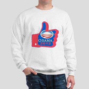 Thumbs Up Obama 2012 Sweatshirt
