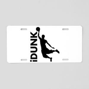 iDunk Basketball Aluminum License Plate