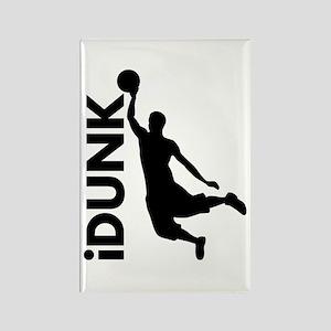 iDunk Basketball Rectangle Magnet