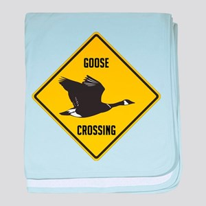 Canada Goose Crossing Sign baby blanket