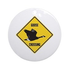 Canada Goose Crossing Sign Ornament (Round)