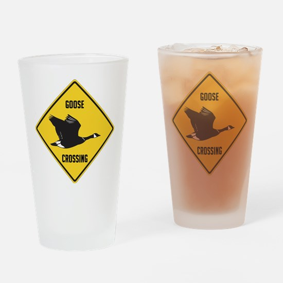 Canada Goose Crossing Sign Drinking Glass