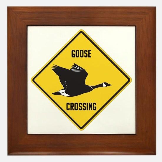 Canada Goose Crossing Sign Framed Tile