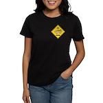 Chick Crossing Sign Women's Dark T-Shirt