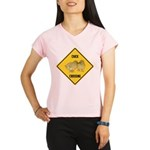 Chick Crossing Sign Performance Dry T-Shirt
