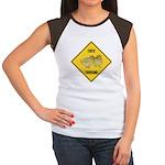 Chick Crossing Sign Women's Cap Sleeve T-Shirt