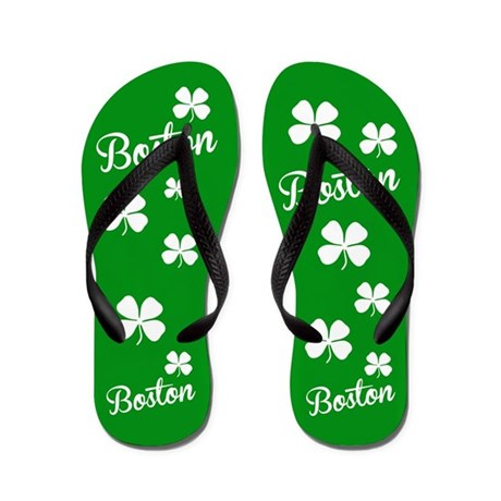 Boston Green Flip Flops