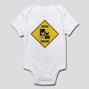 Chicken Crossing Sign Infant Bodysuit