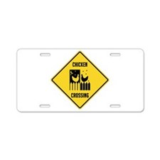 Chicken Crossing Sign Aluminum License Plate