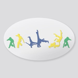 Capoeira Sticker (Oval)