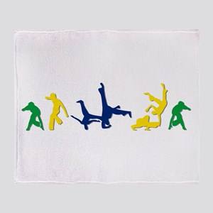 Capoeira Throw Blanket