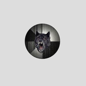 Insanity Wolf Circle Mini Button