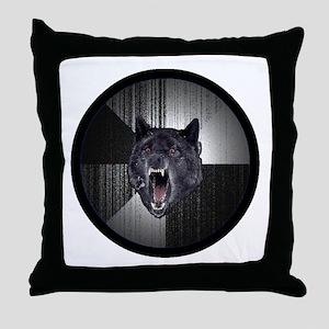 Insanity Wolf Circle Throw Pillow