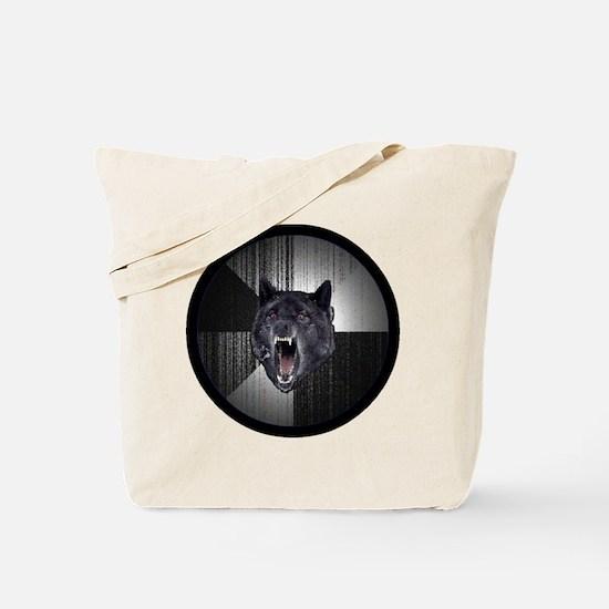 Insanity Wolf Circle Tote Bag