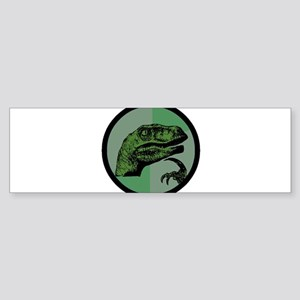 Philosoraptor Circle Sticker (Bumper)