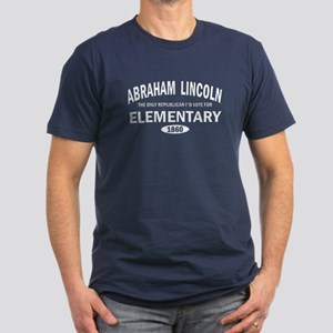 Abaraham Lincoln Elementary Men's Fitted T