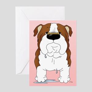 Bulldog Valentine Greeting Card