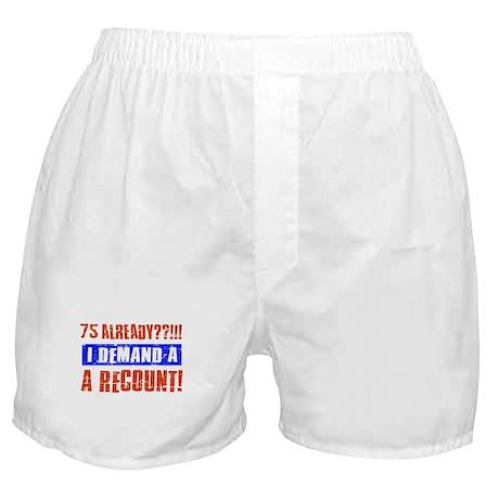 75th birthday design Boxer Shorts