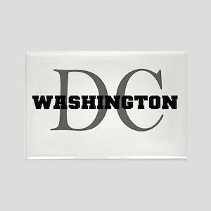 Washington thru DC Rectangle Magnet