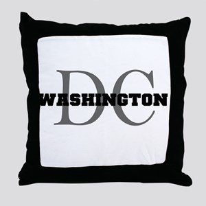 Washington thru DC Throw Pillow