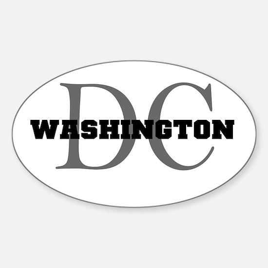 Washington thru DC Oval Decal