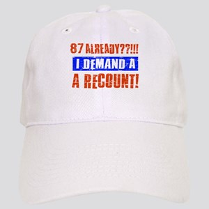 87th birthday design Cap