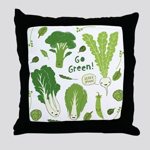 Go Green! (Leafy Green!) Throw Pillow