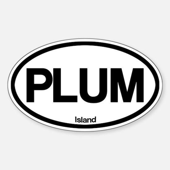 Plum Island Sticker (Oval)