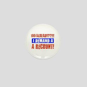 100th birthday design Mini Button