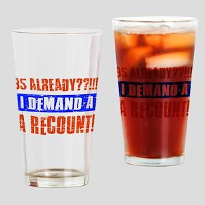 95th birthday design Drinking Glass