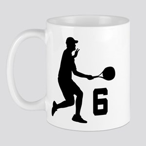 Tennis Uniform Number 6 Player Mug