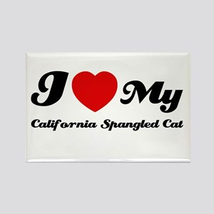 I love my California spangled Rectangle Magnet