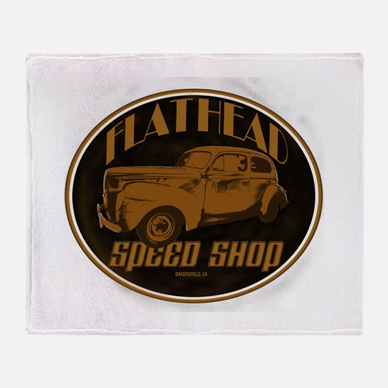 1940 Ford Deluxe Coupe Flathe Throw Blanket