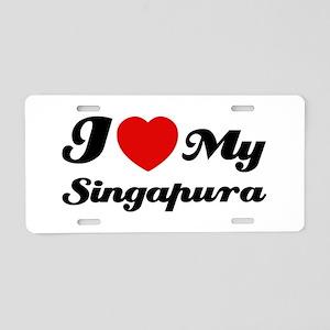 I love my Singapura Aluminum License Plate