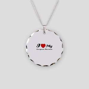 I love my European Burmese Necklace Circle Charm