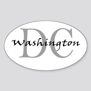 Washington thru DC Oval Sticker
