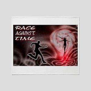 race against time Throw Blanket