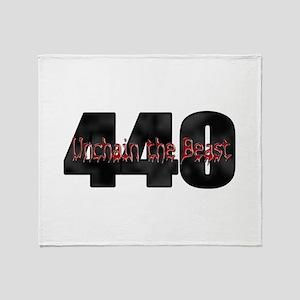 Unchain the monster Mopar 440 Throw Blanket