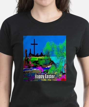 Easter Christians Cross Women's Dark T-Shirt