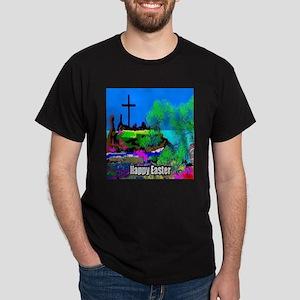Easter Christians Cross Dark T-Shirt